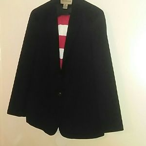 Evan Picone women's suit black blazer jacket